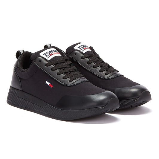 Tommy Jeans Mix Material Flexi Mens Black Trainers