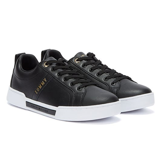 Tommy Hilfiger Gold Tone Detailing Womens Black Trainers