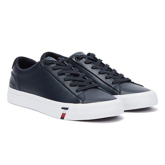 Tommy Hilfiger Signature Logo Vulcanised Mens Navy Trainers