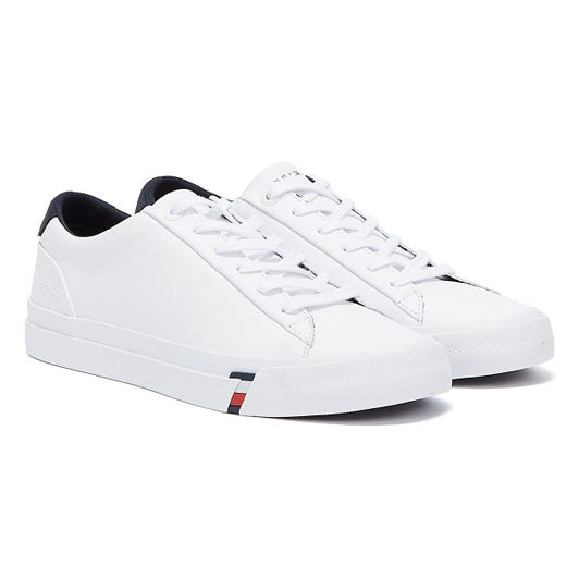 Tommy Hilfiger Signature Logo Vulcanised Mens White Trainers