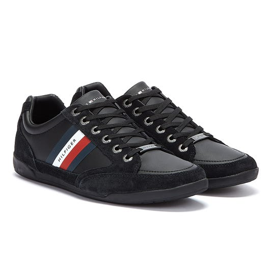 Tommy Hilfiger Corporate Mix Cupsole Mens Black Trainers
