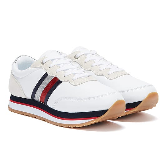 Tommy Hilfiger Signature Tape Low Womens White Trainers