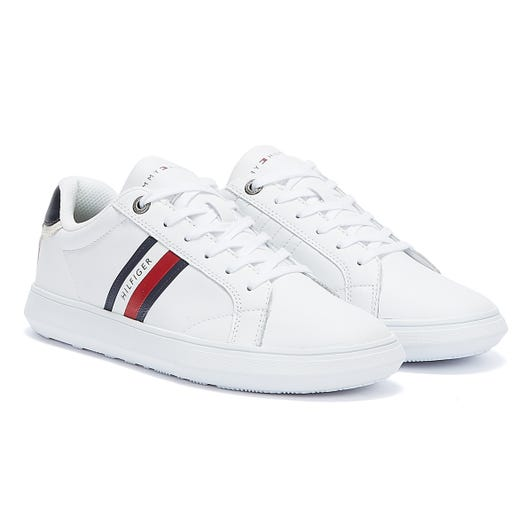 Tommy Hilfiger Essential Cupsole Leather Mens White Trainers