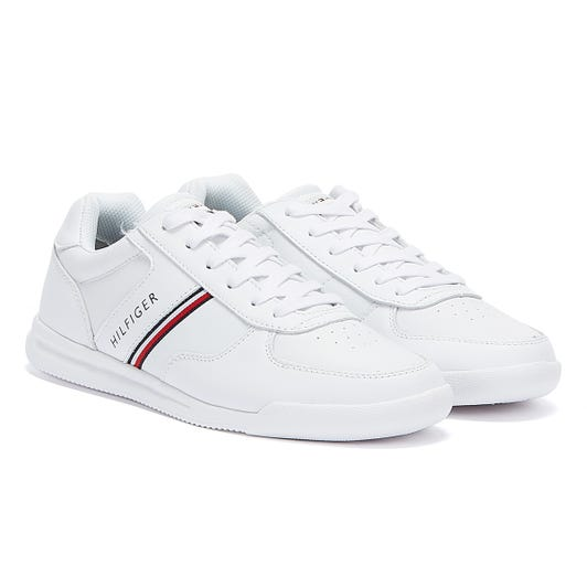 Tommy Hilfiger Lightweight Leather Mens White Trainers