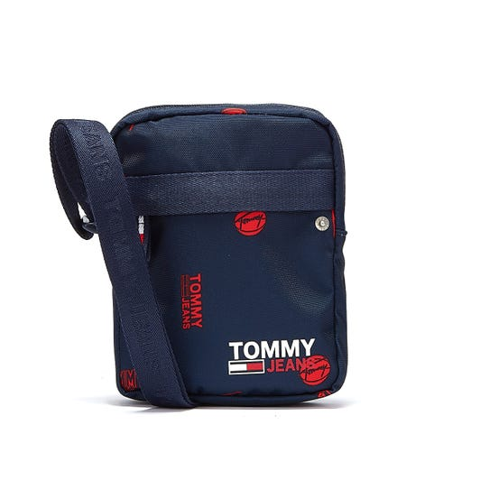 Tommy Jeans Campus Reporter Print Mens Navy Cross Body Bag