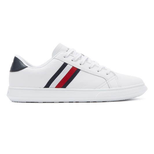 Tommy Hilfiger Essential Cupsole Mens White Leather Trainers