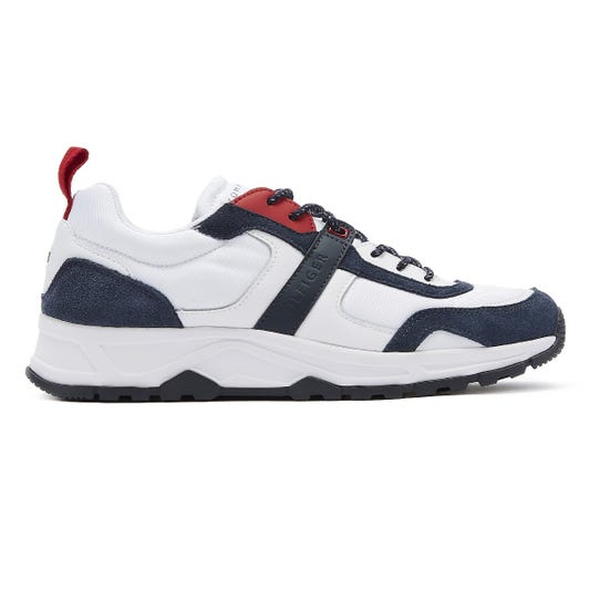 Tommy Hilfiger Fashion Mens White Mix Trainers