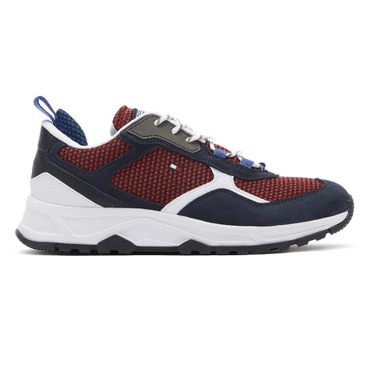Tommy Hilfiger Fashion Mens Blue / Red Mix Trainers