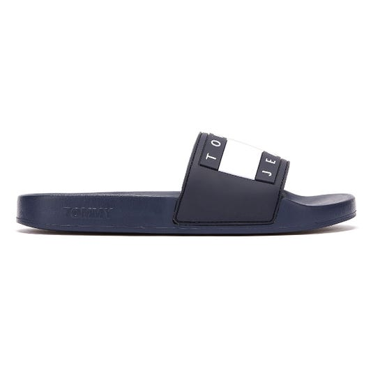 Tommy Jeans Flag Pool Womens Navy Slides
