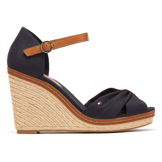 Tommy Hilfiger Iconic Elena Womens Navy Wedge Sandals