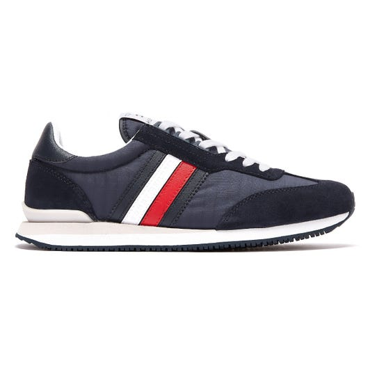 Tommy Hilfiger Low Mix Runner Stripe Mens Navy Trainers