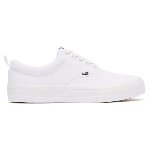 Tommy Jeans Virgil Textile Mens White Trainers