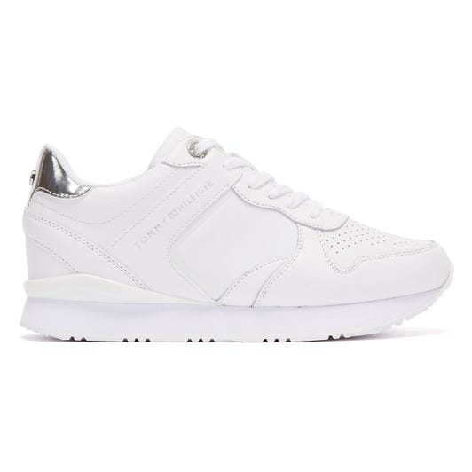 Tommy Hilifiger Dressy Wedge Womens White Trainers