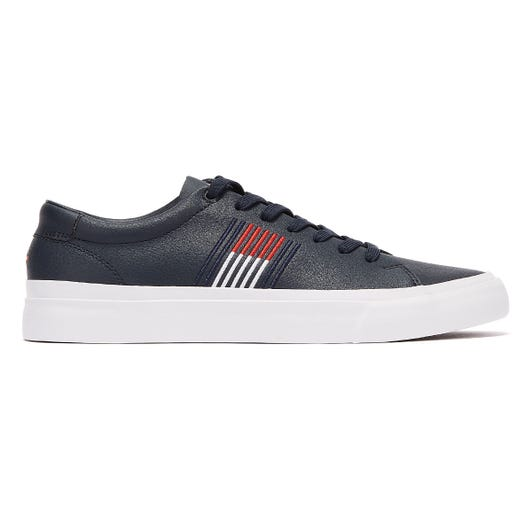 Tommy Hilfiger Signature Leather Low Mens Navy Trainers