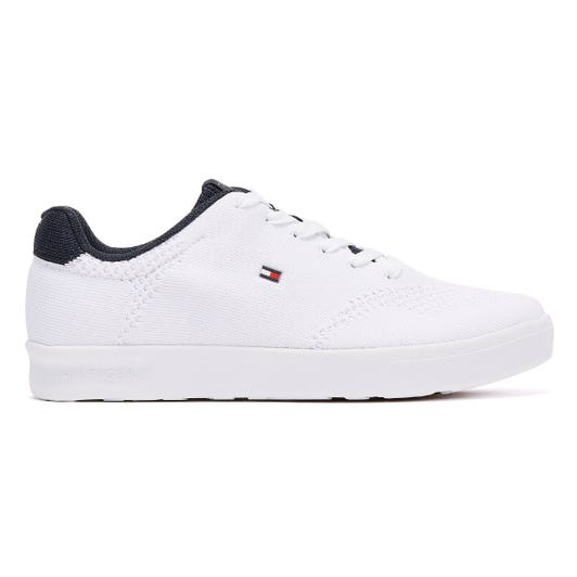 Tommy Hilfiger Lightweight Knit Cupsole Mens White Trainers