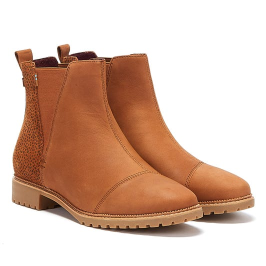 TOMS Cleo Womens Brown Boots