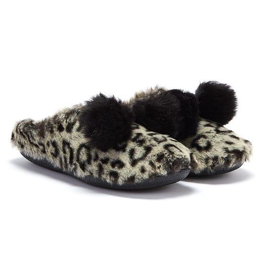 TOMS Ivy Leopard Womens Grey Slippers