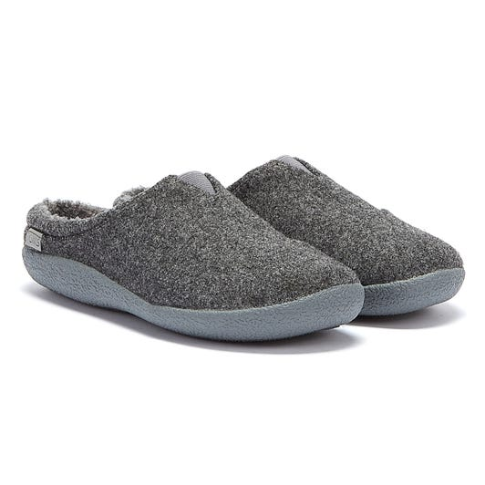 TOMS Berkeley Two Tone Felt Mens Grey Slippers