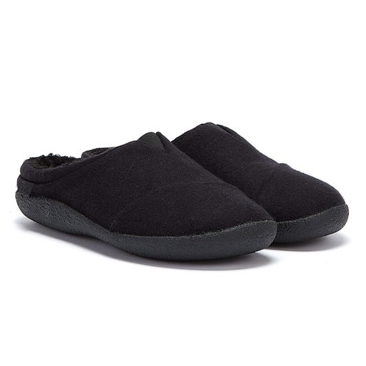 TOMS Berkeley Two Tone Felt Mens Black Slippers