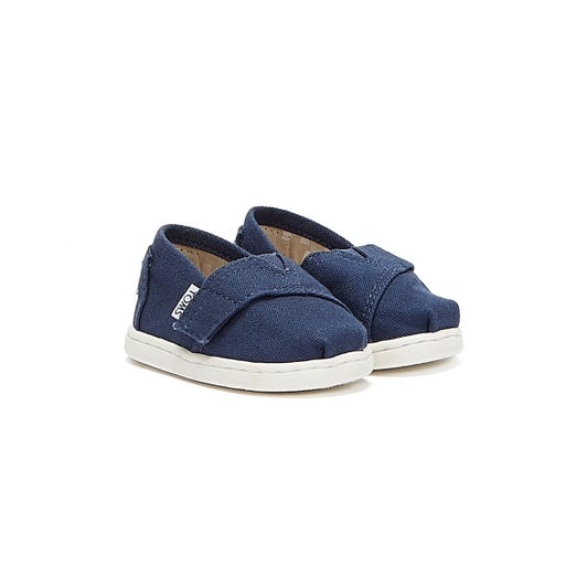TOMS Toddlers Navy Canvas Tiny Classic Espadrilles