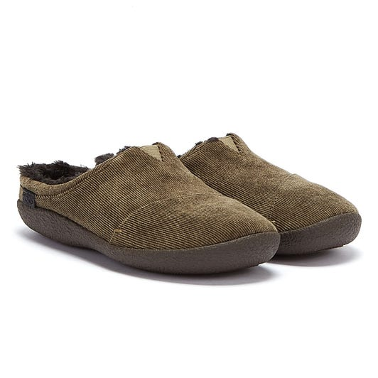 TOMS Berkeley Mens Olive Green Corduroy Slippers