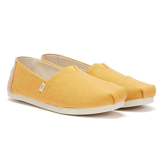 TOMS Alpargata Eco Dye Womens Golden Yellow Espadrilles