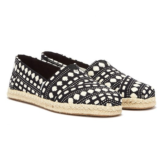 TOMS Alpargata Rope Global Woven Womens Black / White Espadrilles