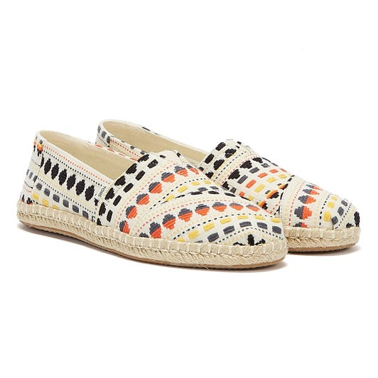 TOMS Alpargata Rope Global Woven Womens White / Multi Espadrilles