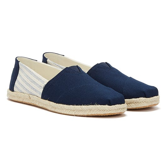 TOMS Alpargata Rope Stripes Womens Navy Espadrilles