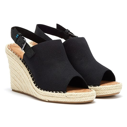 TOMS Monica Womens Black Wedges