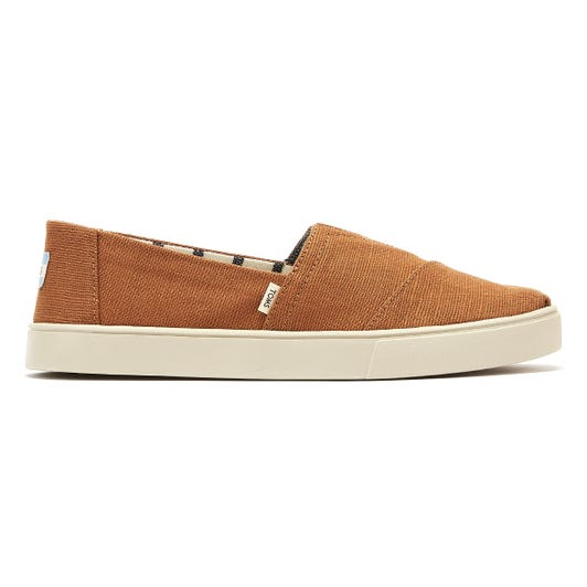 TOMS Cupsole Mens Almond Tan Canvas Espadrilles