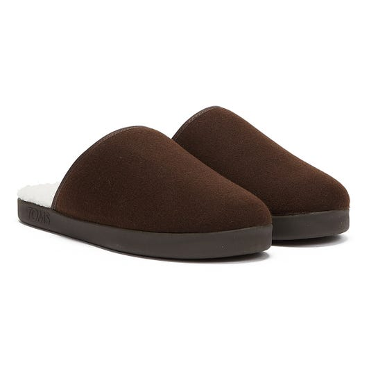 TOMS Harbor Mens Chocolate Brown Slippers