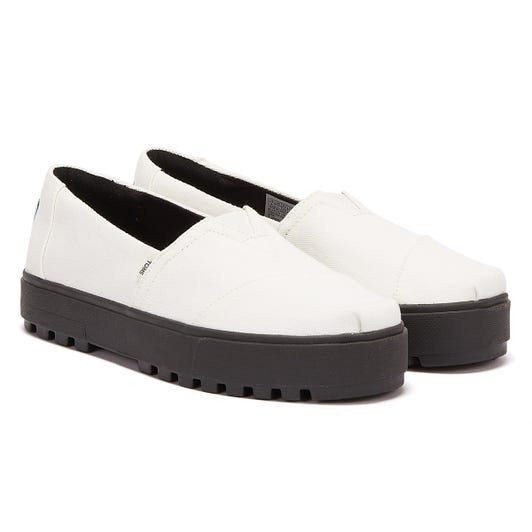 TOMS Alpargata Lugged Womens White / Black Espadrilles