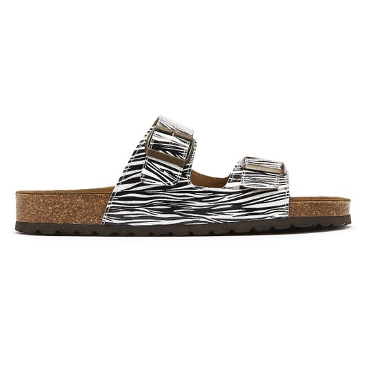 TOWER London Mai Tai Womens Zebra Slides