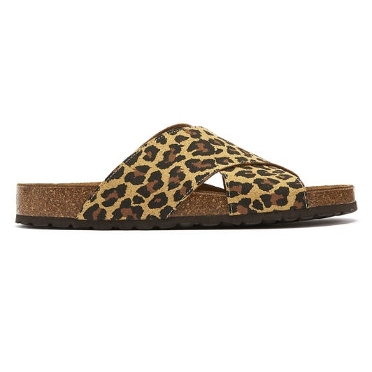 TOWER London Mimosa Womens Leopard Slides