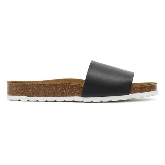 TOWER London Cosmo Womens Black Slides