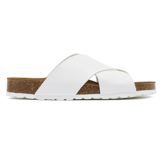 TOWER London Mimosa Womens White Slides