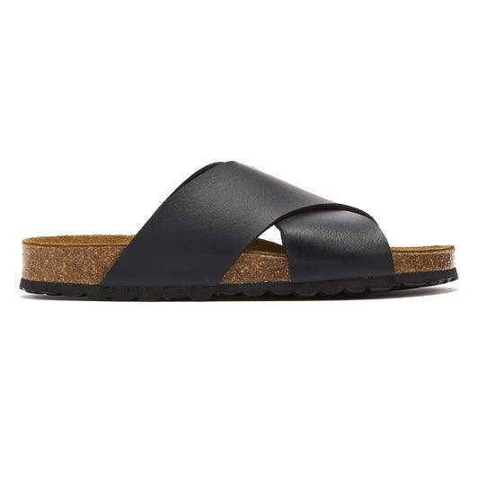 TOWER London Mimosa Womens Black Slides