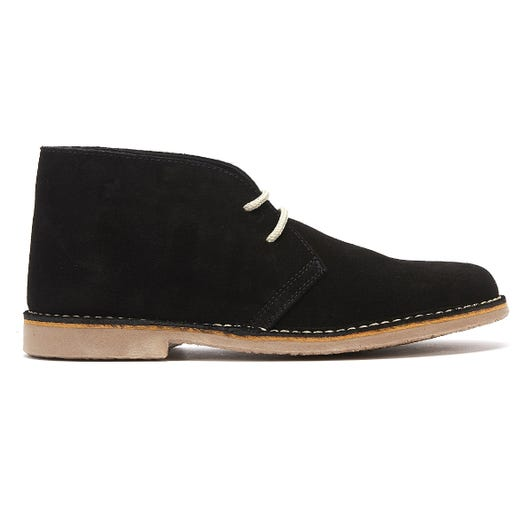 TOWER London Sahara Suede Mens Black Boots