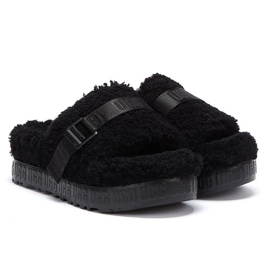 UGG Fluffita Womens Black Slides