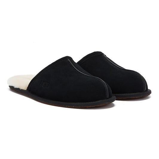 UGG Scuff Mens Black Slippers