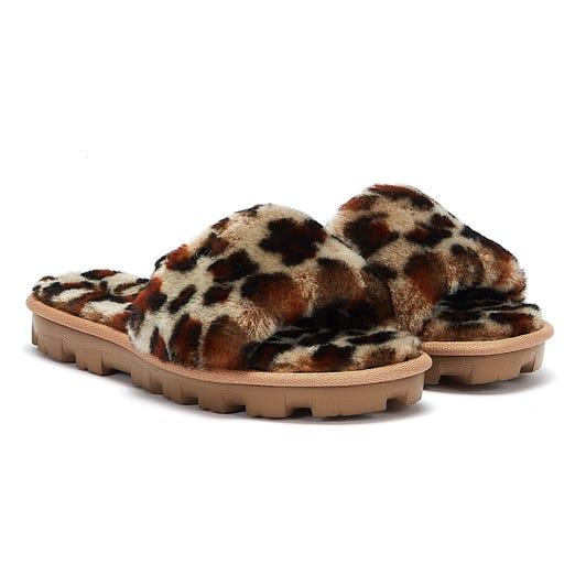 UGG Cozette Leopard Womens Brown Slippers