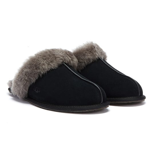 UGG Womens Black / Grey Scuffette II Slippers