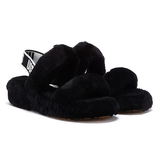 UGG Oh Yeah Womens Black Slippers