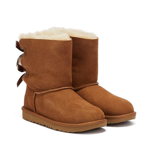 UGG Bailey Bow II Kids Chestnut Brown Boots