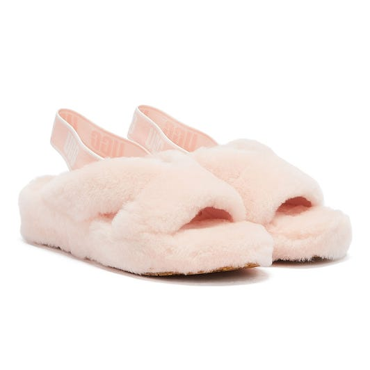 UGG Fab Yeah Womens Light Pink Slippers