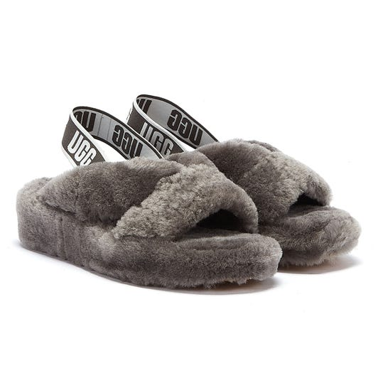 UGG Fab Yeah Womens Charcoal Slippers