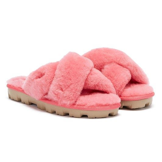 UGG Fuzzette Womens Strawberry Pink Slippers