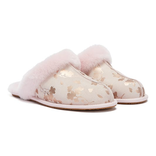UGG Scuffette II Floral Foil Womens Pink Slippers