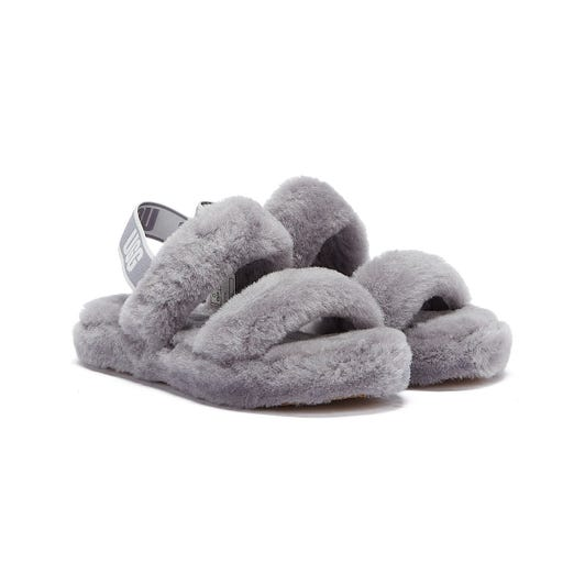 UGG Oh Yeah Kids Grey Slippers